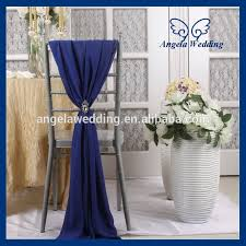 blue chair sashes sh003d cheap fancy wedding navy blue chiffon chair sash with