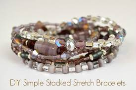 simple beads bracelet images Stretch bracelet tutorial how to make a simple stacked accessory jpg