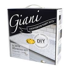 Pictures Of Kitchens With White Cabinets And Black Countertops Giani Countertop Paint Kit White Diamond Amazon Com
