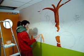 fresque murale chambre fresque murale pour enfants dans une cantine ptit d une