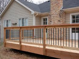 Banister Railing Ideas Kitchen Incredible Best 25 Glass Deck Railing Ideas On Pinterest