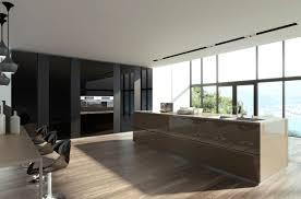contemporary kitchen laminate island lacquered cristallo