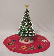 ceramic light up christmas tree vintage 1960s mid century crackle marble ceramic light up