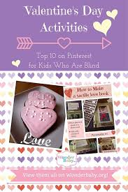 Fun Activities For The Blind 46 Best Tactile Valentine U0027s Crafts U0026 Ideas For Blind Kids Images