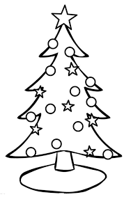 Christmas Tree Coloring Page With Ornaments Christian Coloring Tree Coloring Pages Ornaments
