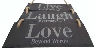 live laugh love signs live laugh love 3 part hanging slate sign