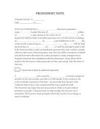 download sample promissory note template pdf rtf word