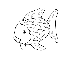 rainbow fish coloring page cecilymae