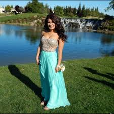 64 off dresses u0026 skirts gold u0026 tiffany blue long chiffon prom