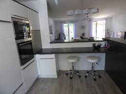 perene cuisines gris anthracite et blanc laqué moderne cuisine par