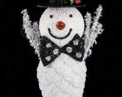 snowman pine wreath etsy