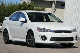 2017 mitsubishi lancer white solid constant variable 13km qld