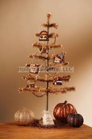 thanksgiving feather tree with garland ornaments bethany