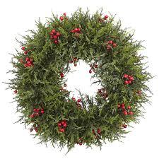 berry wreath 20 cedar berry wreath see white