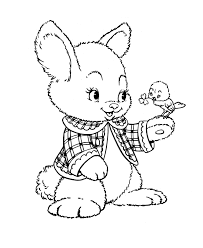 easter bunny coloring pages bluebonkers fuzzy bunny free