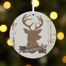 personalized rustic deer family name christmas ornament walmart com