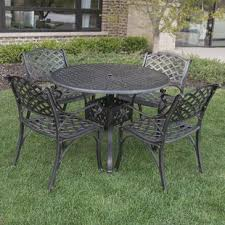 Cast Aluminum Patio Table And Chairs Cast Aluminum Patio Furniture Wayfair