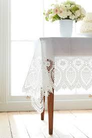 Oval Vinyl Tablecloth Lace Vinyl Tablecloth Sophie Conran Shop
