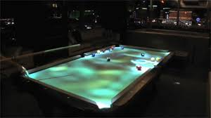 Table Pool Cuelight Interactive Pool Table Youtube
