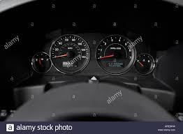 2006 jeep commander in blue speedometer tachometer stock photo