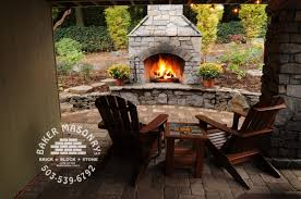 download outdoor brick fireplace garden design