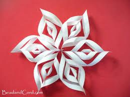 diy 3d paper snowflakes bead cord