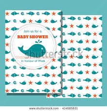 nautical baby shower card sea theme stock vector 414685819