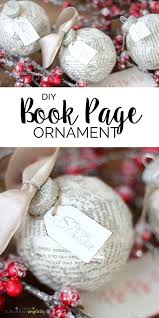 diy book page ornament handmade ornament ideas