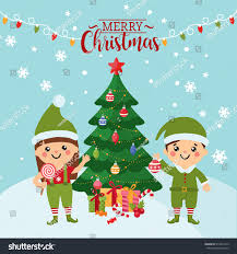 Christmas Tree Costume For Kids - merry christmas greeting card cute kids stock vector 512841619