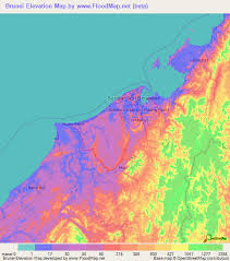brunei map in world brunei elevation and elevation maps of cities topographic map contour
