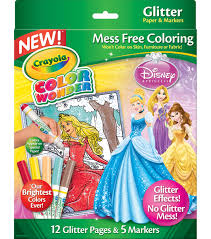 crayola color wonder princess glitter coloring pages u0026 markers