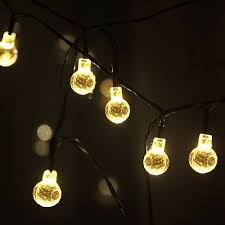 round bulb fairy lights m t tech outdoor solar patio string fairy lights for party garden