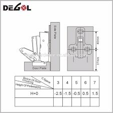 high quality adjust soft close concealed kitchen cabinet hinge for