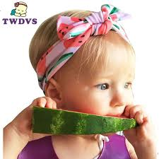 infant hair 1pc baby headwear fruit dot knot headband newborn infant hair
