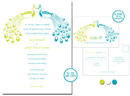 Invitation Card With Rsvp Oshea Designs Customized Paper Goodies Peacock Wedding Invites