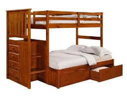 Carson S Bedroom Furniture by Carson Rustic Pine Twin Over Full Bunk Bed With Stairs