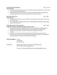Business Owner Resume Example by Cleaning Services Job Description Resume Sample Cleaning Resume