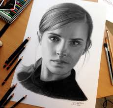 portrait pencil drawing emma by dinotomic 14