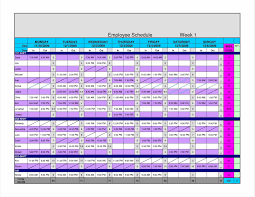 excel and weekly employee shift schedule excel template shift