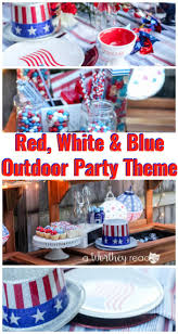 outdoor party ideas red white u0026 blue outdoor party theme this worthey life