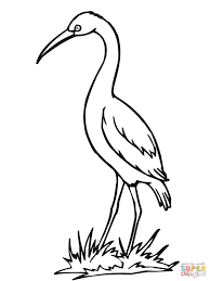 bird coloring pages for toddlers crane coloring pages all coloring pages