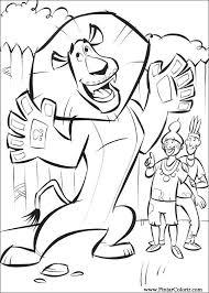 drawings paint u0026 colour madagascar 2 print design 029