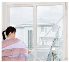 White Sheer Curtains White Self Adhesive Insect Mosquito Window Screens Diy Mesh