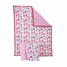 Turquoise And Pink Baby Bedding Disney Baby Bedding Minnie Mouse 3 Piece Portable Crib Bedding Set