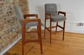 danish bar stools danish teak bar stools tall with arms set of 2 galaxiemodern