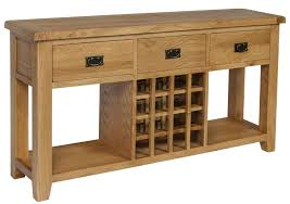 wine rack console table hereford oak console table with wine rack