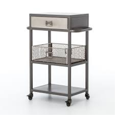Industrial Kitchen Cart by Element Industrial Small Bar Cart The Khazana Home Austin