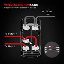 mictuning laser led light bar rocker switch on off led light 20a