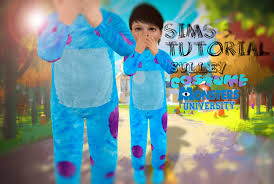 Monster Inc Halloween Costumes Sims 3 Tutorial Sully Monster University Costume Youtube