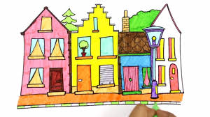 coloring buildings for kids coloring houses house coloring pages